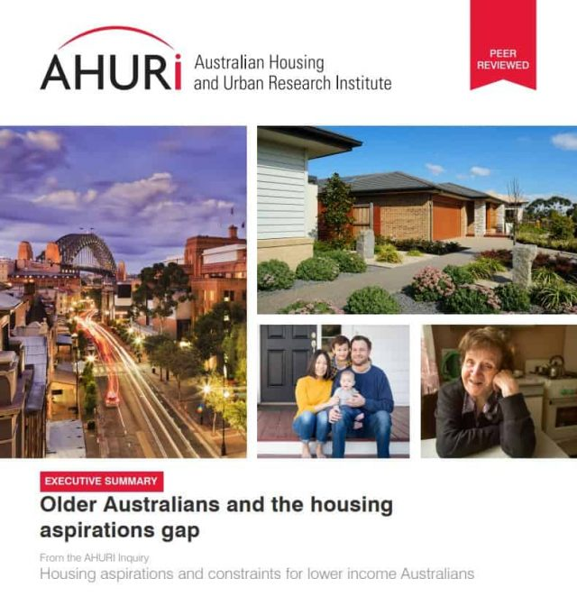 Older Australias and the housing aspitrations gap