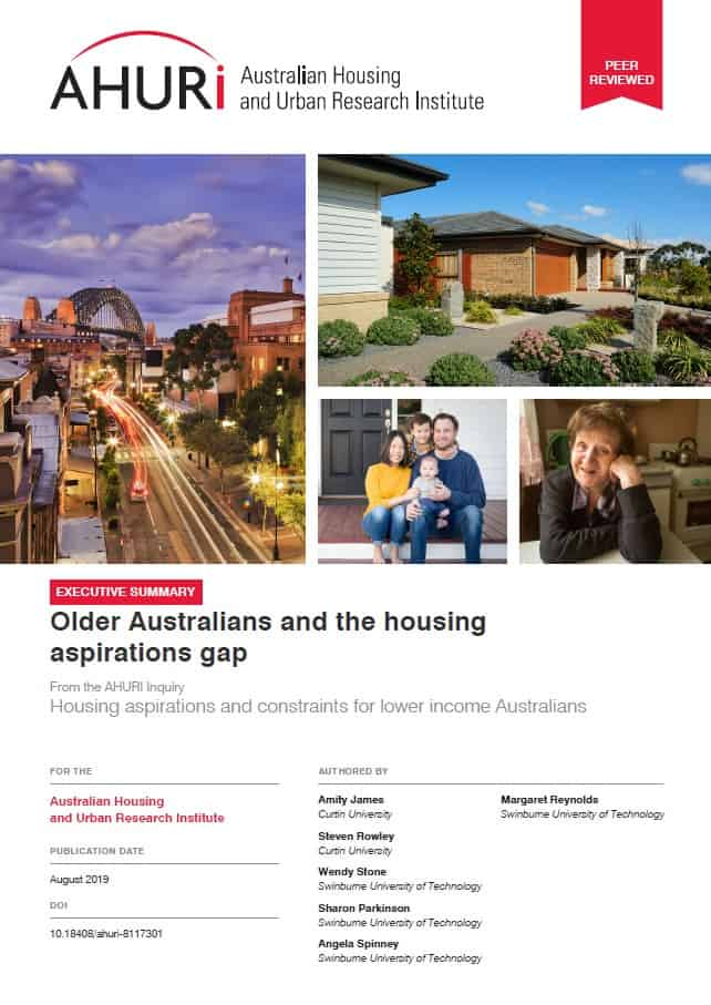 Older Australias and the housing aspirations gap - REPORT