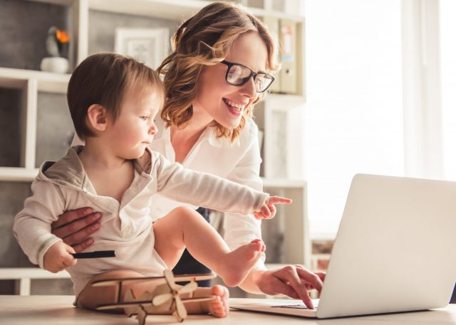 Working from home is nothing new to mothers